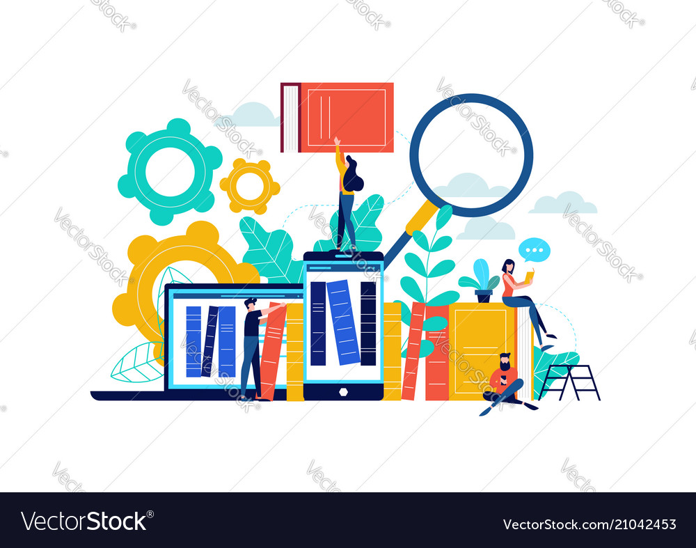 Virtual library or book study concept