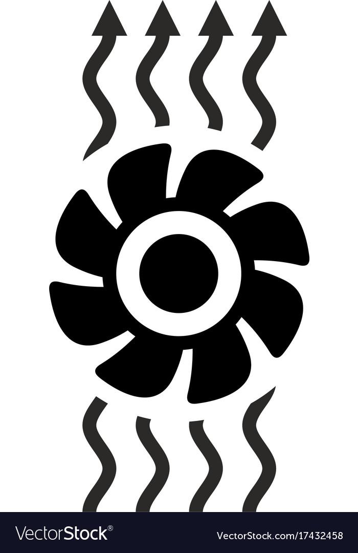 Exhaust Fan Ventilation Icon Royalty Free Vector Image