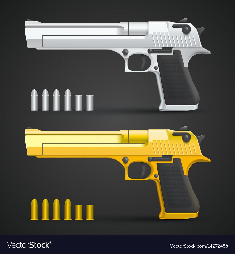 Gold and silver gun