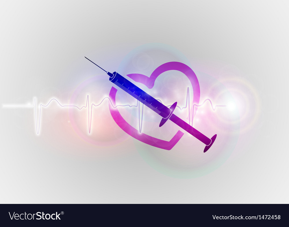 Medical symbol injection with heart