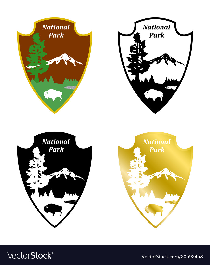 National Park Royalty Free Vector Image Vectorstock