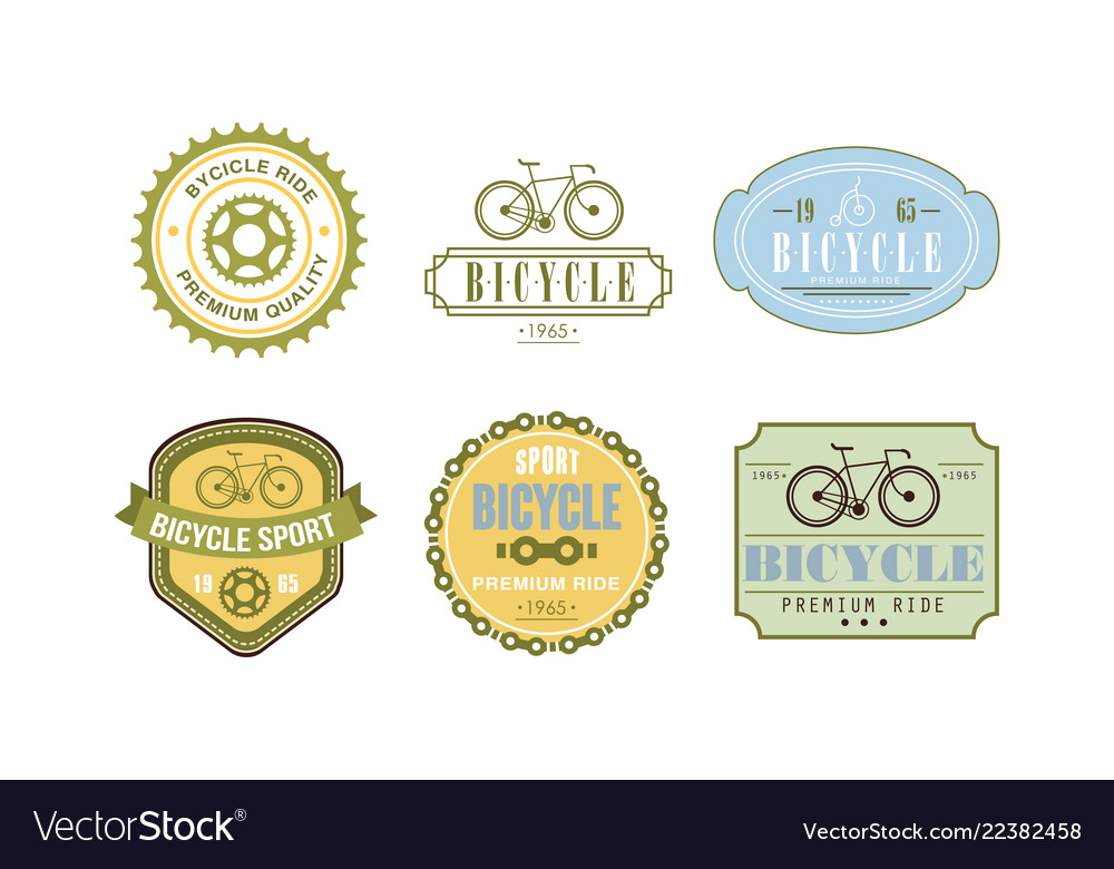 Retro bicycle sport logo set badge can be used
