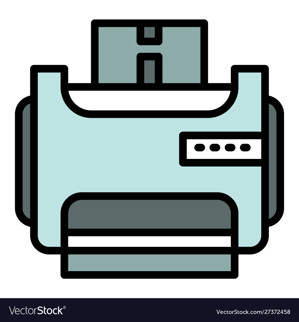 Room printer icon outline style