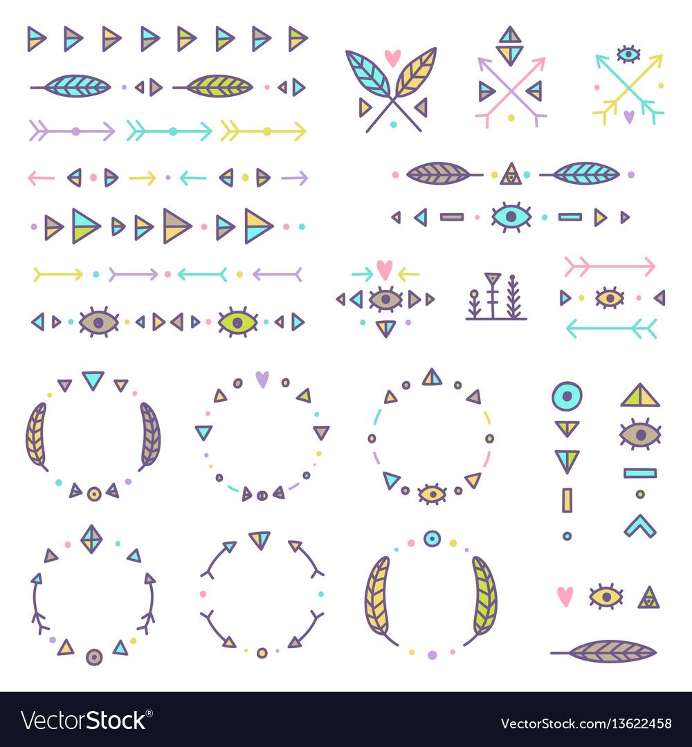 Set of tribal elements
