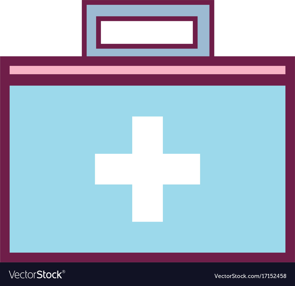 Suitcase with medical first aid kit