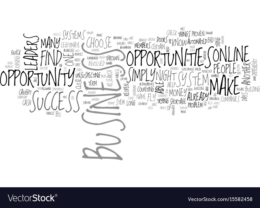 Which online business opportunity will you choose vector image