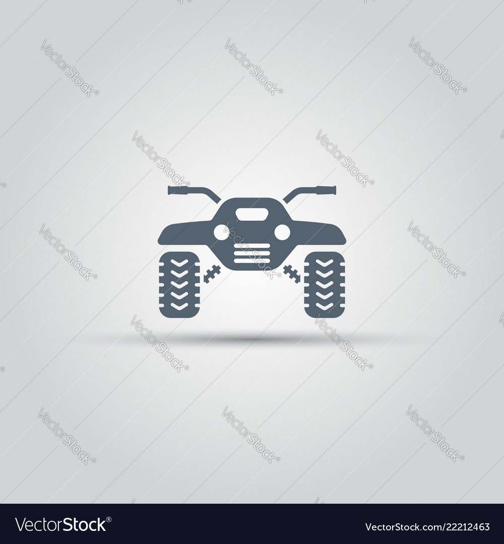 Atv isolated icon off-road motorcycles