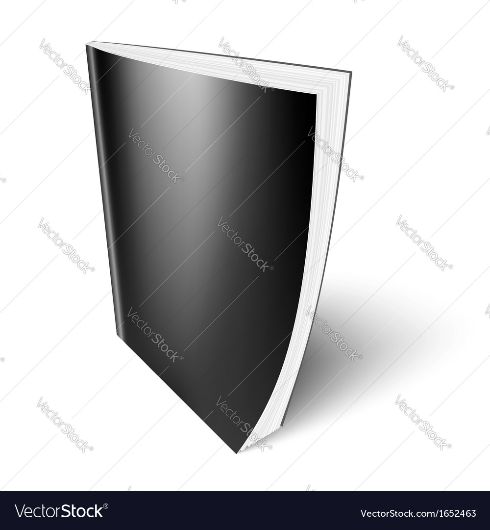 Black vertical magazine template