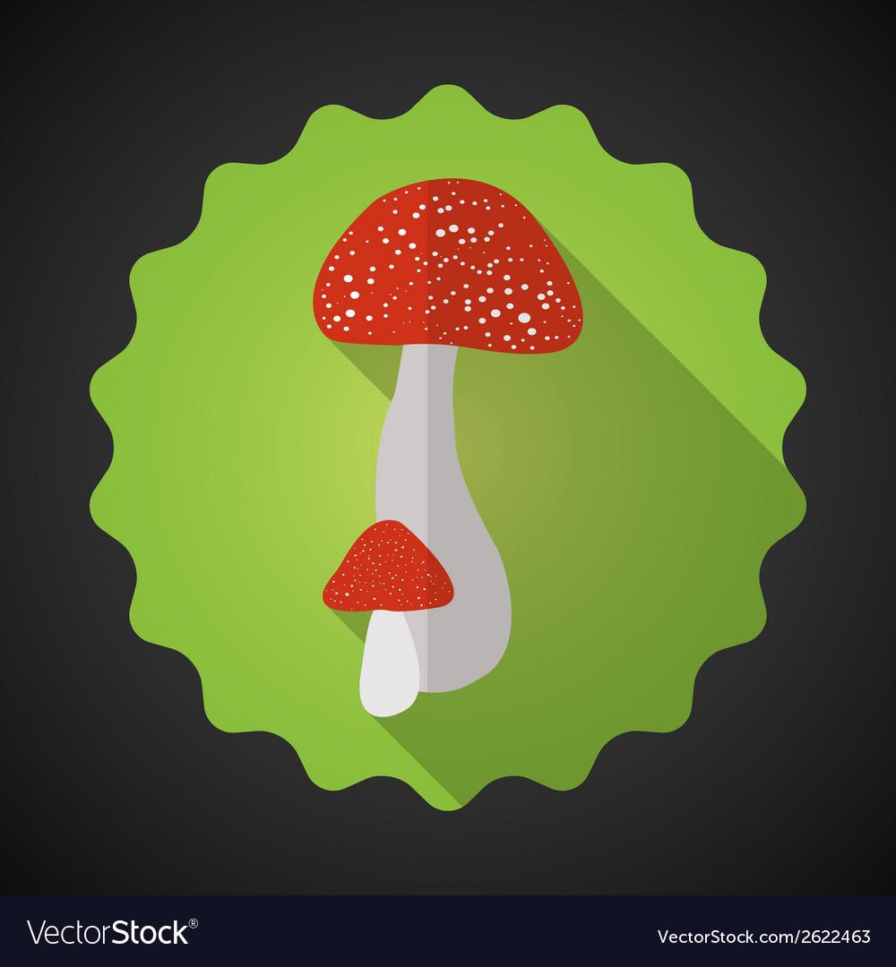 Mushrooms Bad Habits Flat icon background