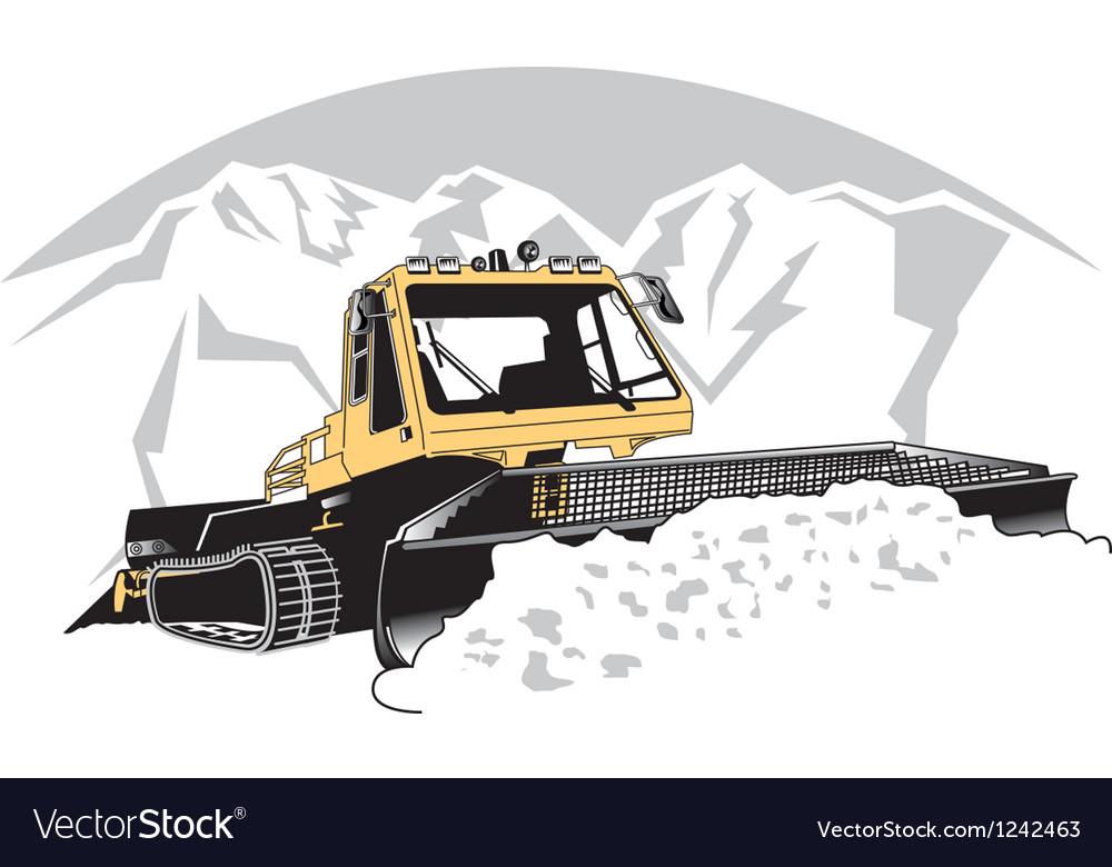 Snowcat vector image