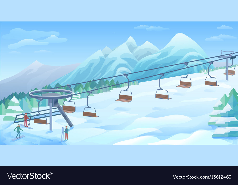 Winter outdoor resort background