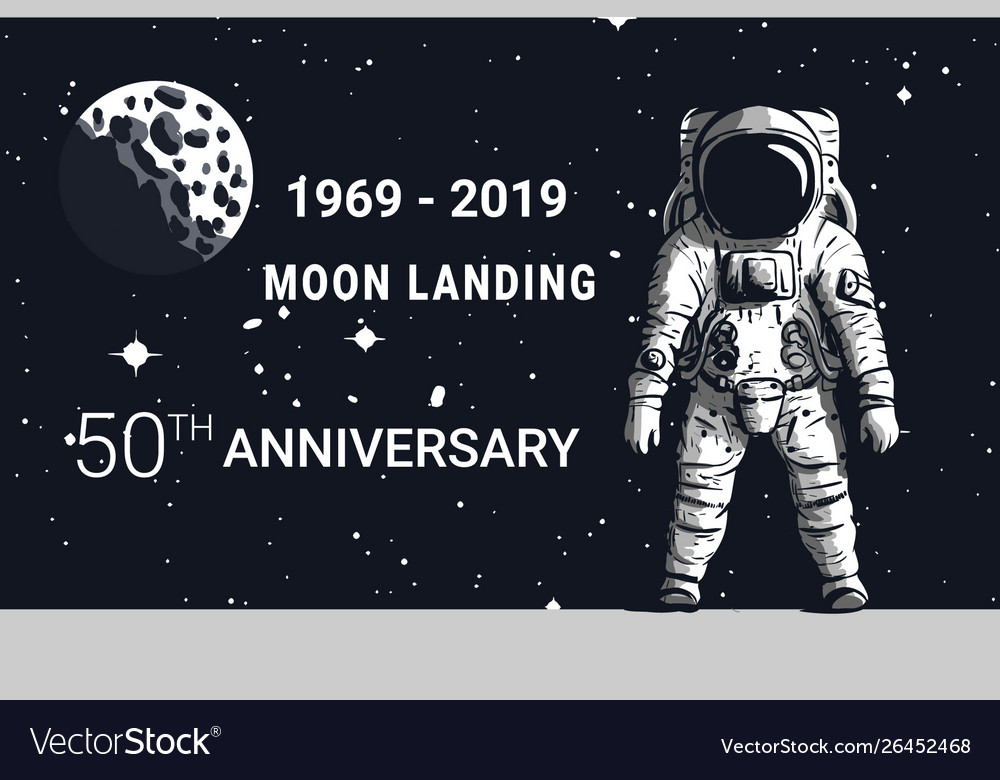 Astronaut moon landing 50th anniversary image