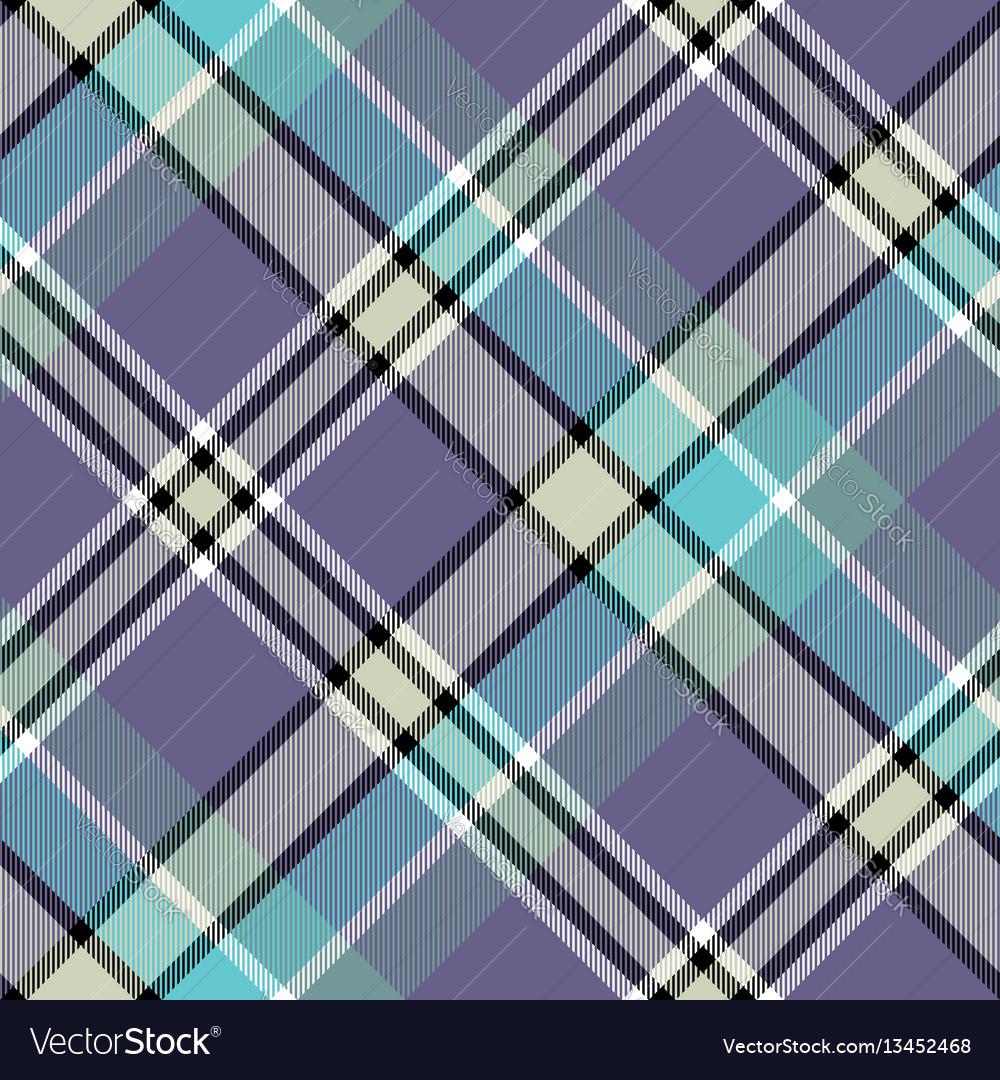 Blue gray color check plaid seamless fabric