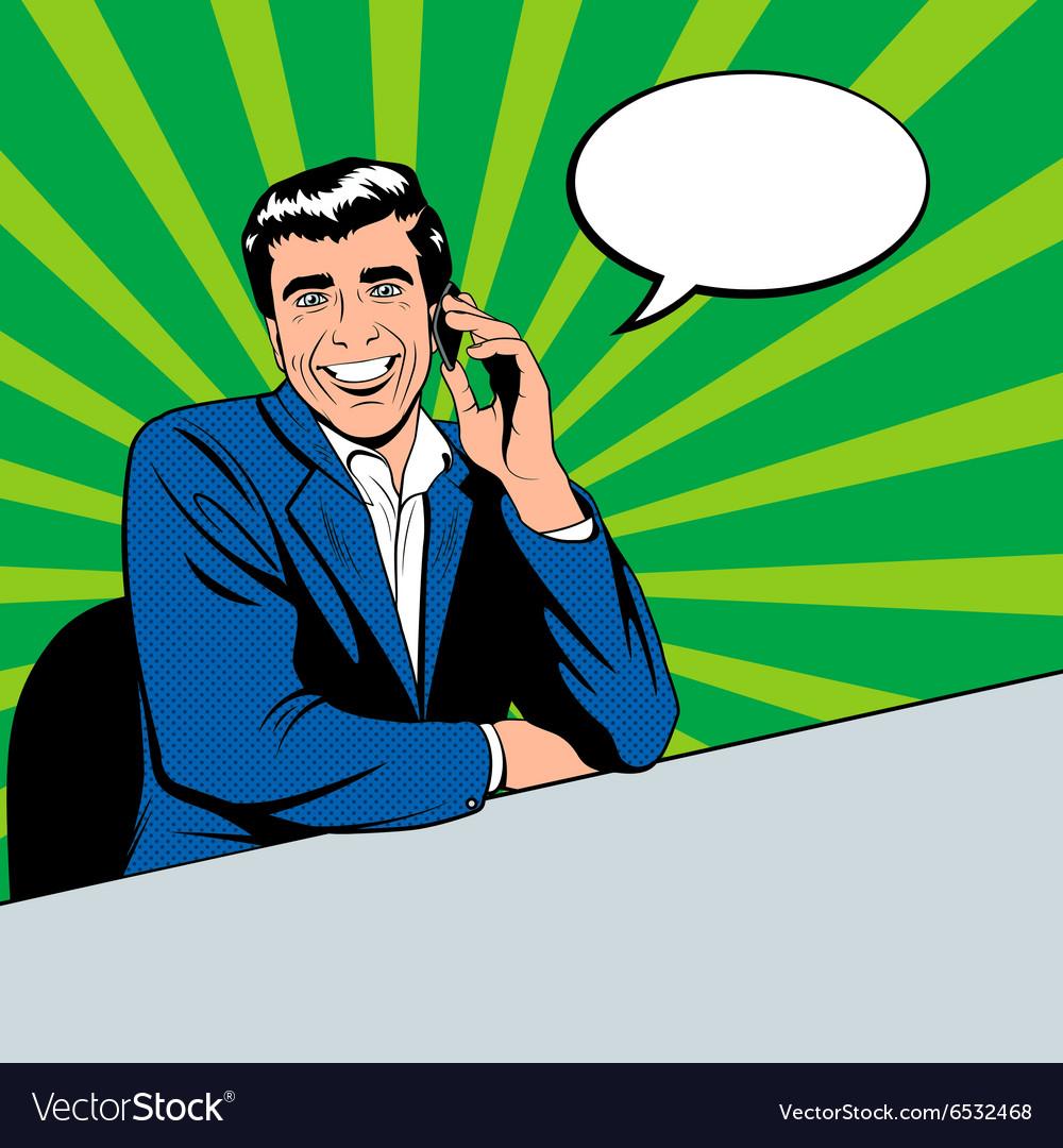 Businessman speaking by phone
