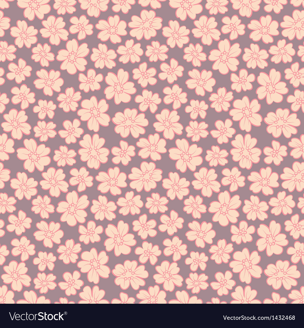 Cute flowers seamless vector image