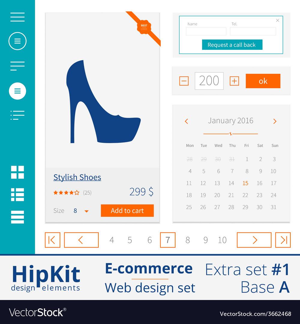 E-commerce web design elements extra set 1