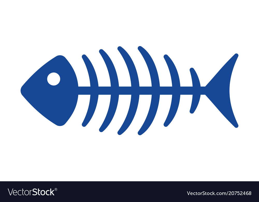 Fish bone icon vector image
