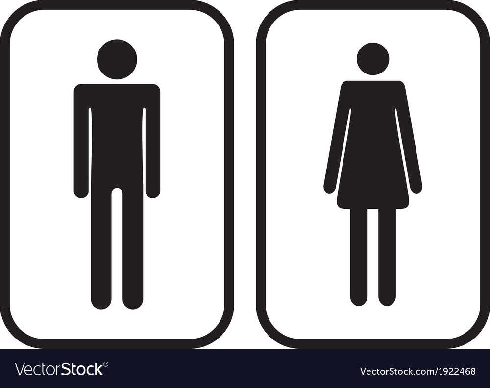 Restroom signs Printable Man And Woman Restroom Signs Vector Image Vectorstock Man And Woman Restroom Signs Royalty Free Vector Image