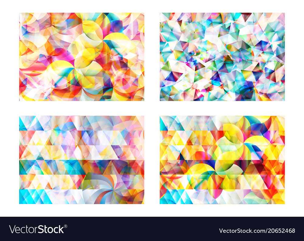 Modern abstract geometric polygonal and circle