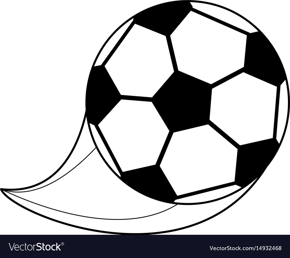 Monochrome silhouette with soccer ball