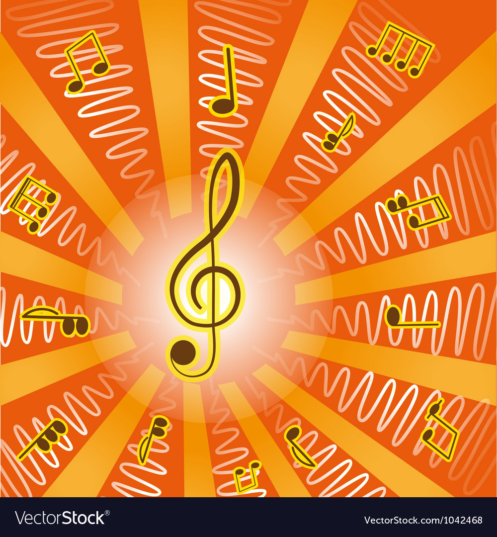 MusicTreble clef and notes for your design