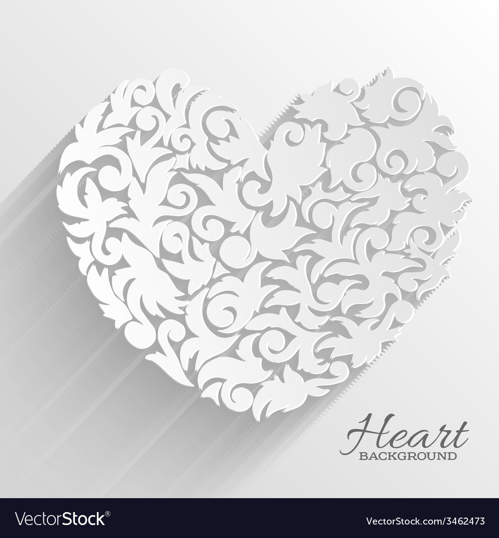 Abstract ornament heart background concept