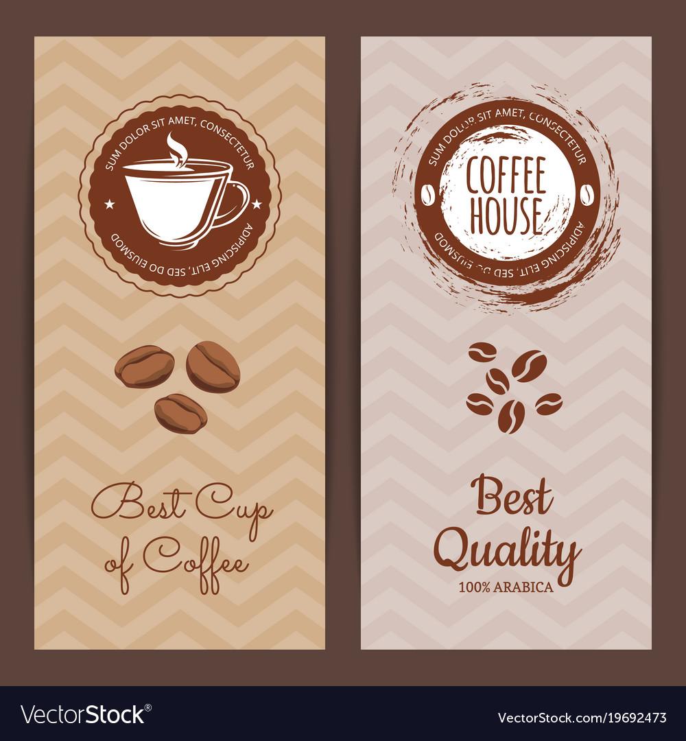 Coffee shop or brand logo banner
