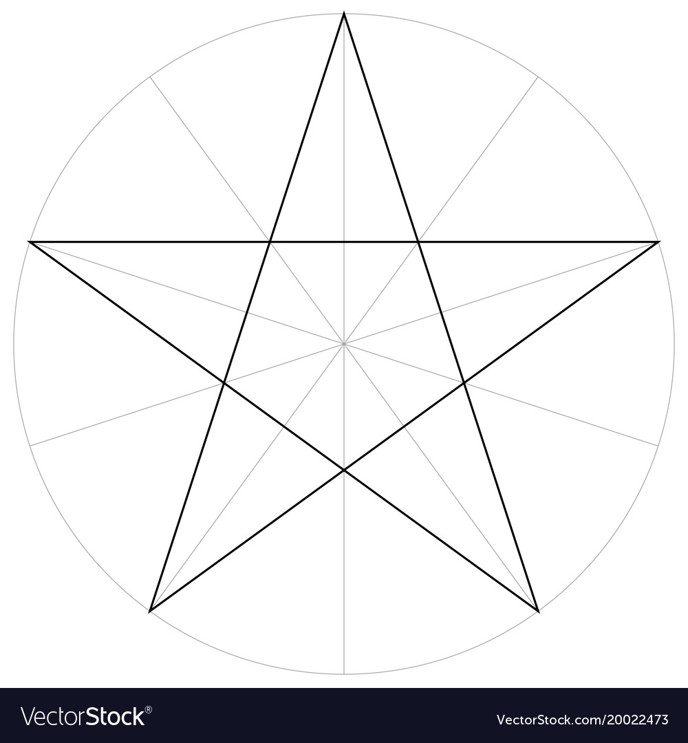 correct shape template geometric shape pentagram vector image