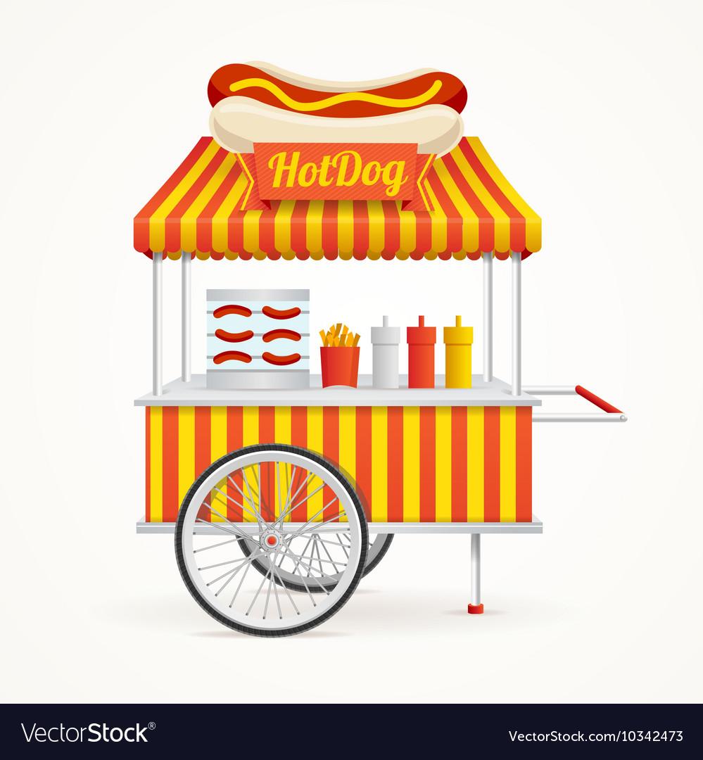Fast Food Hot Dog Street Market Stall