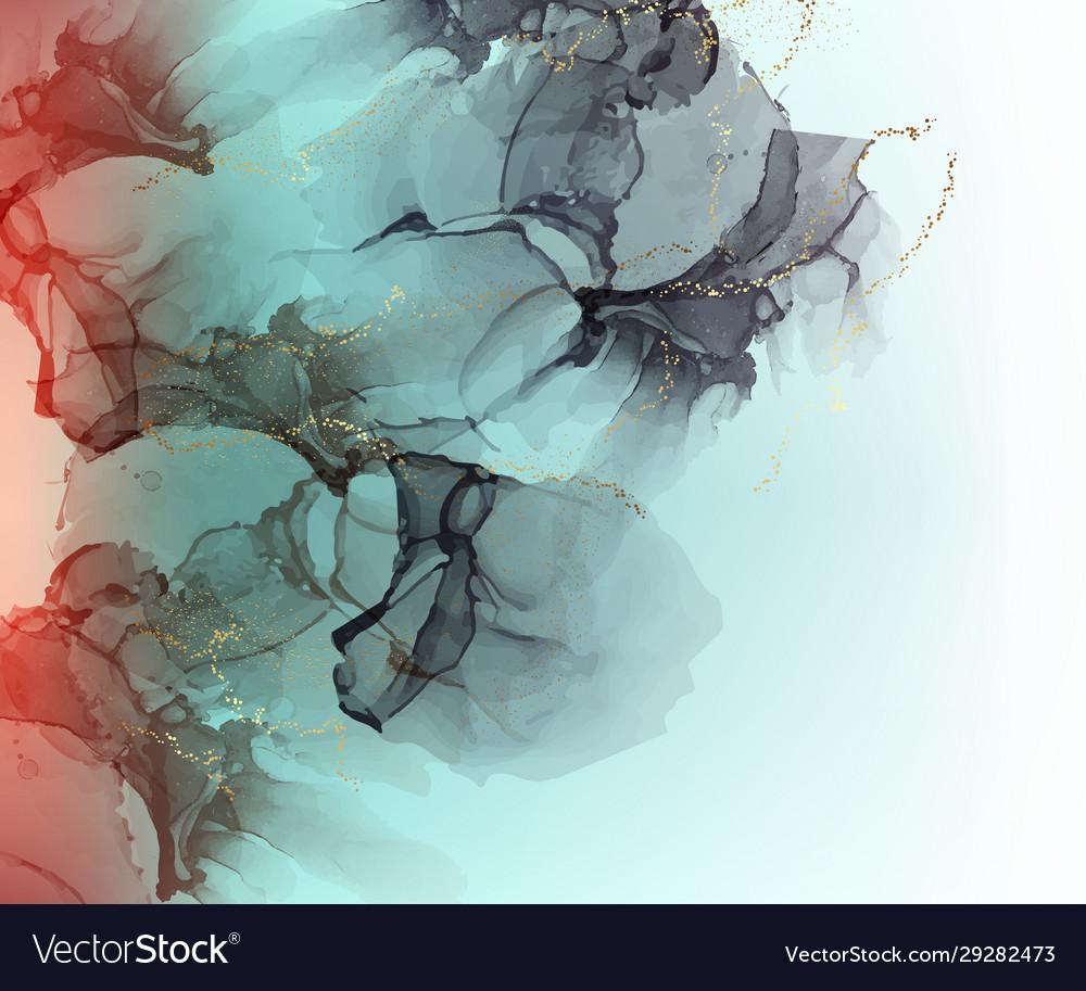 Green trendy marble wallpaper digital ink colors