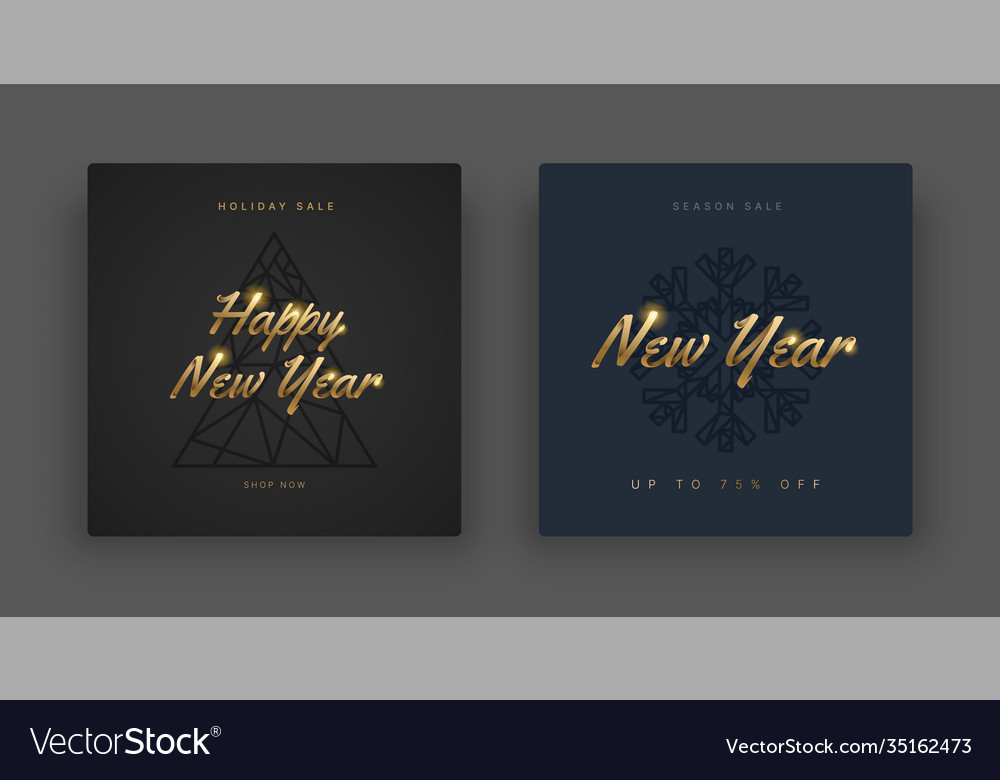 Happy new year 2021 and merry christmas layout