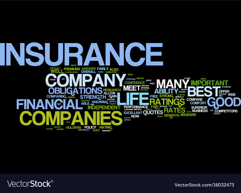 Life insurance quotes for the consumer text Vector Image
