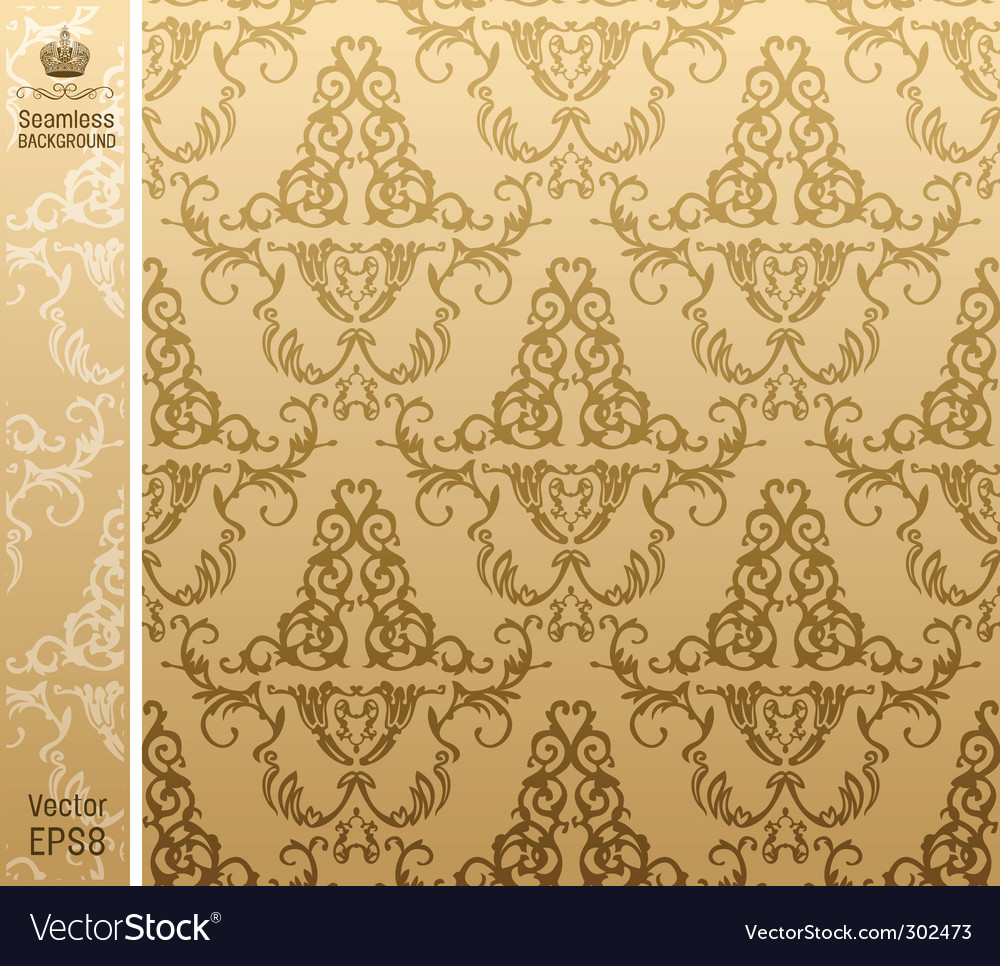 Seamless royal background flower pattern