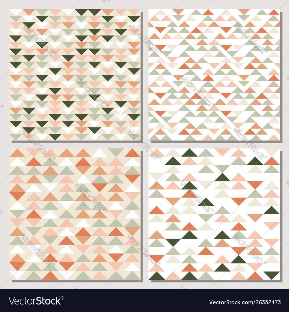Set triangle seamless pattern modern abstract