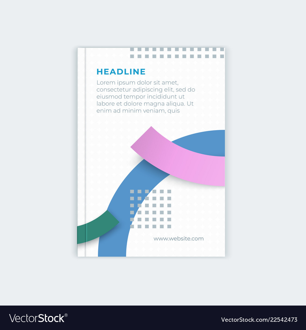 template for business design of catalog cover vector image