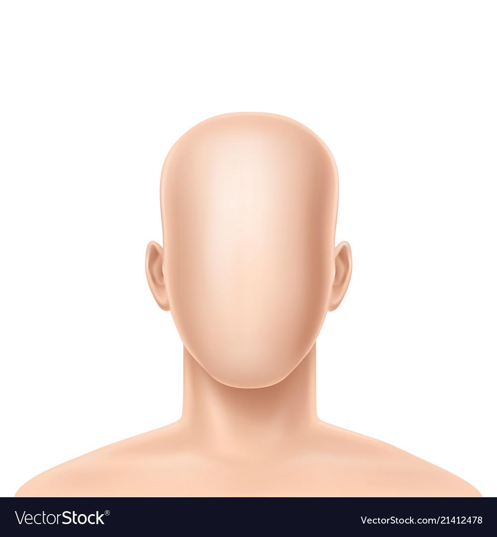 3d realistic faceless human model