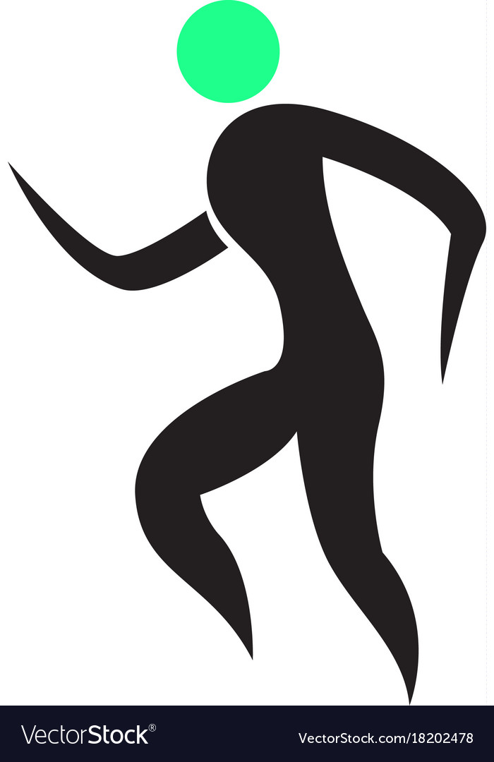 Abstract fitness icon