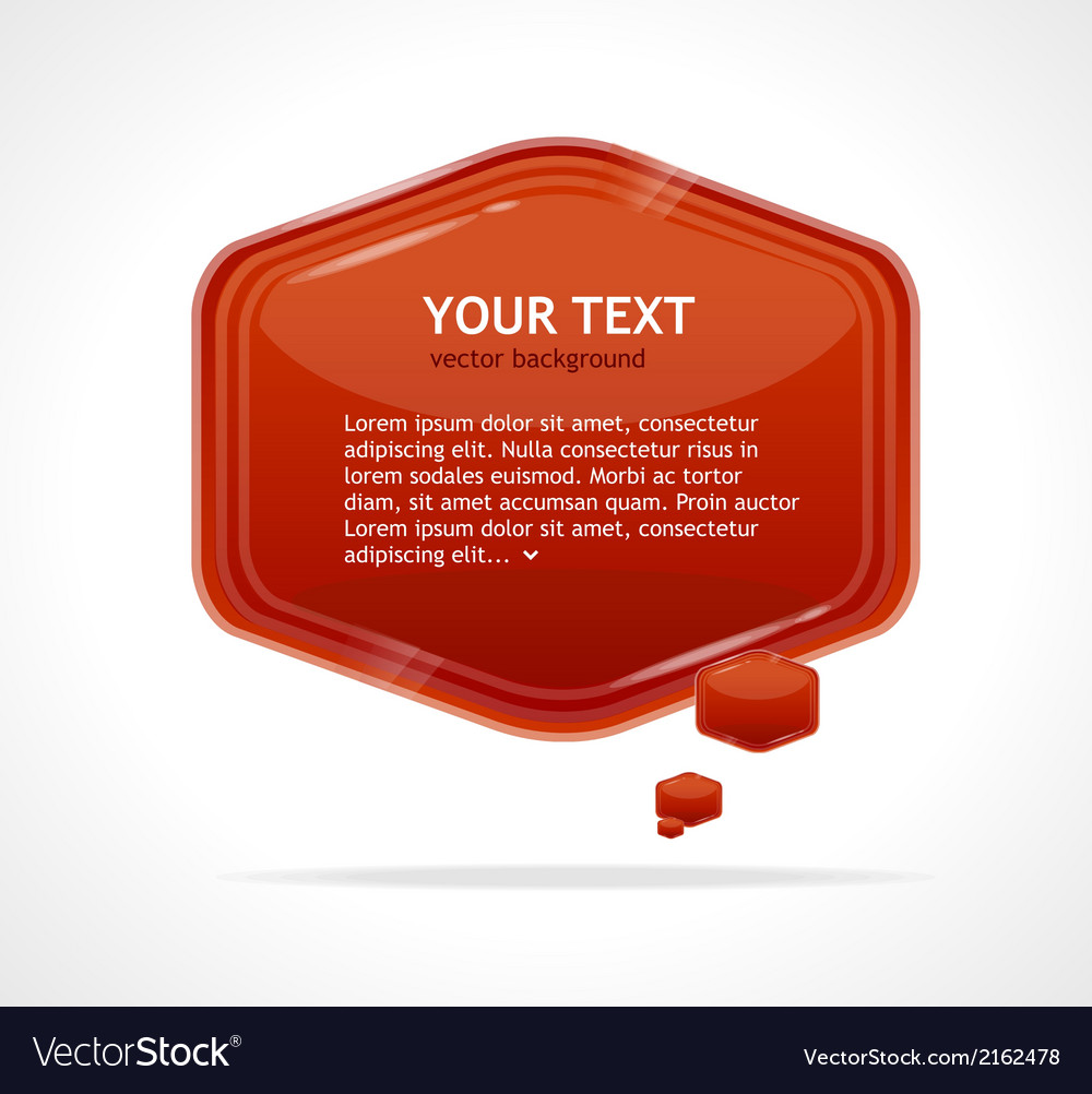 Abstract speech bubble red