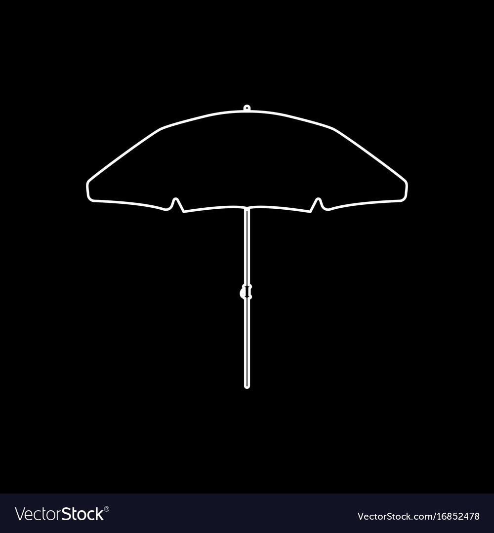 Beach umbrella white color icon