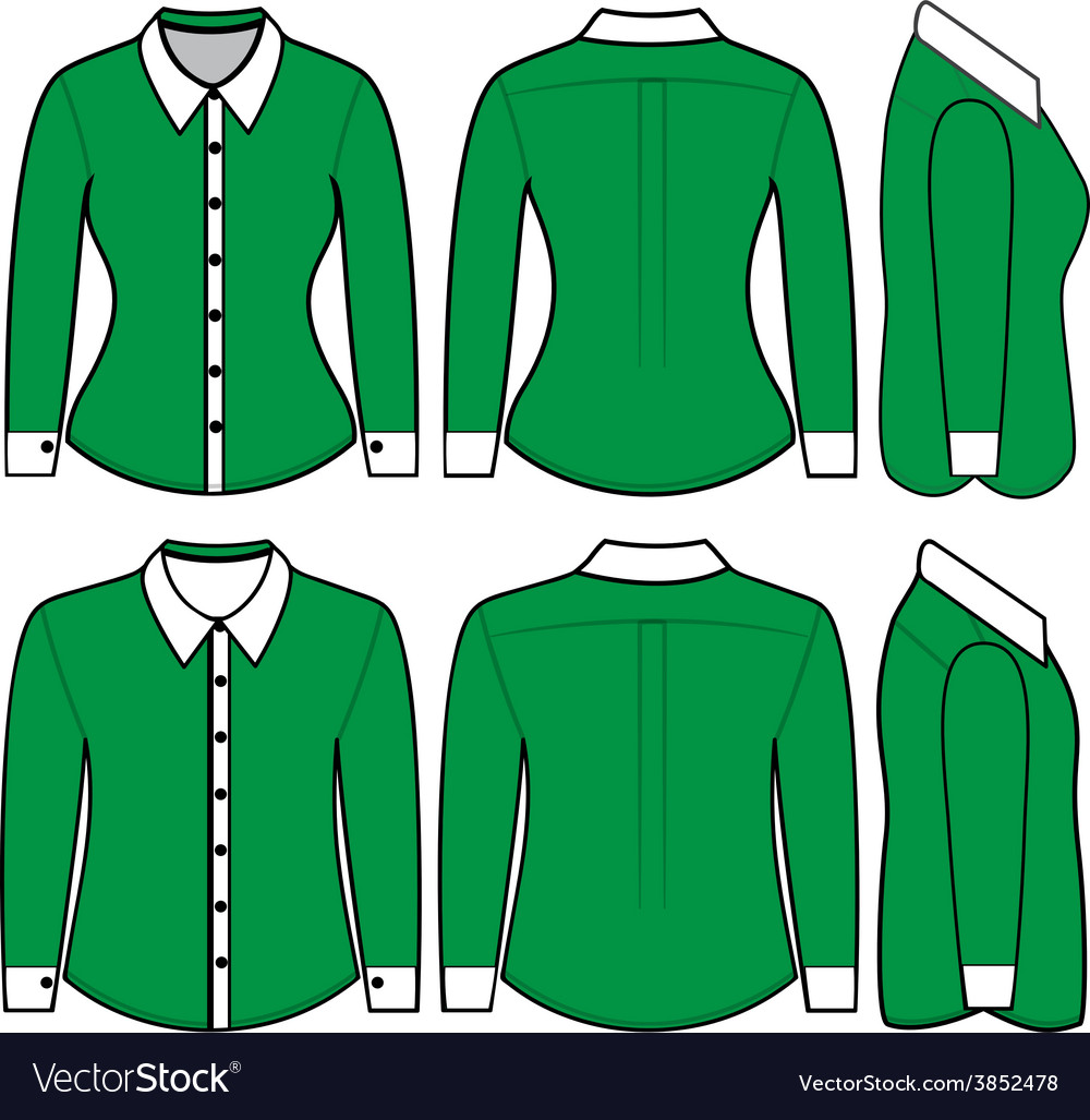 Blank shirt with long sleeves template for man and vector image