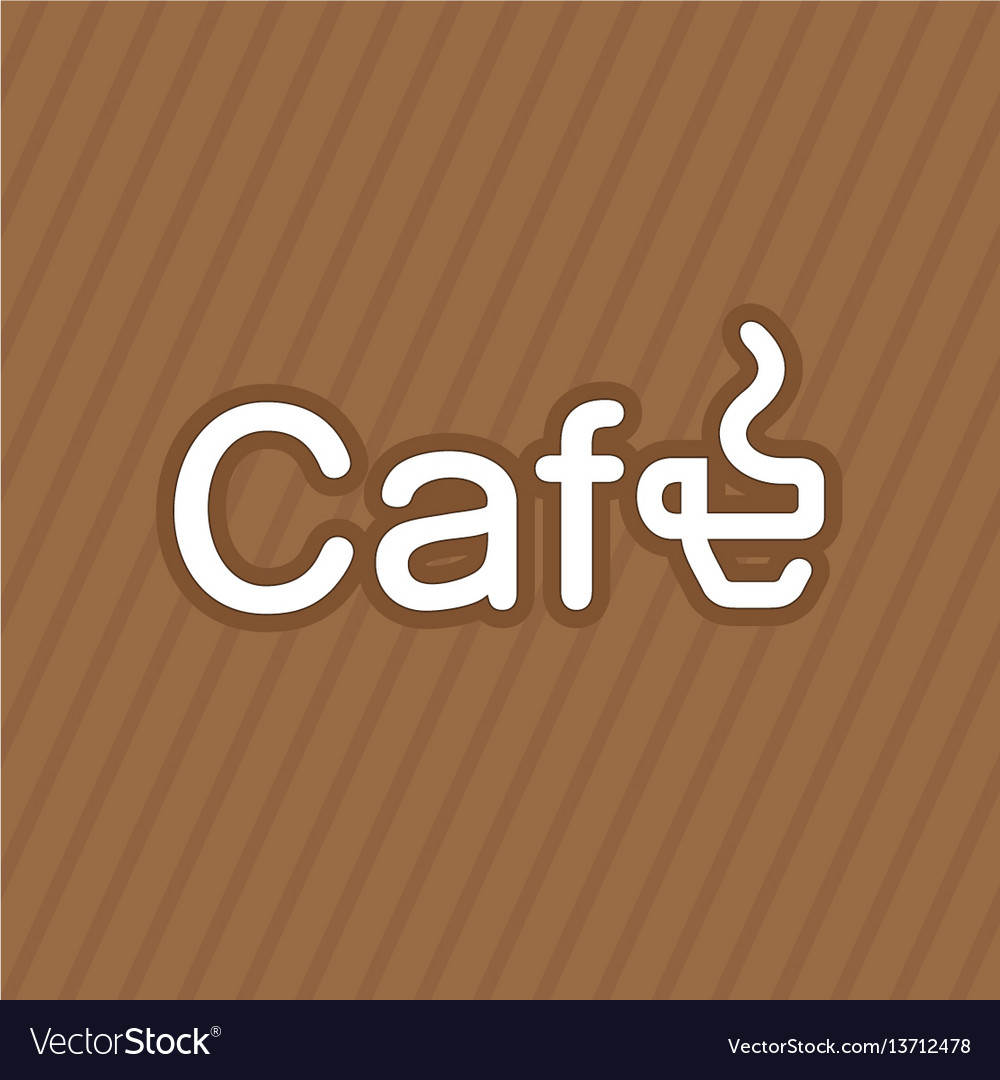 Business card coffee label