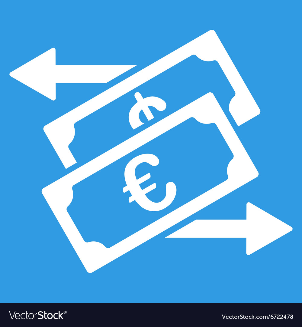 Euro Currency Exchange Icon Vector Image