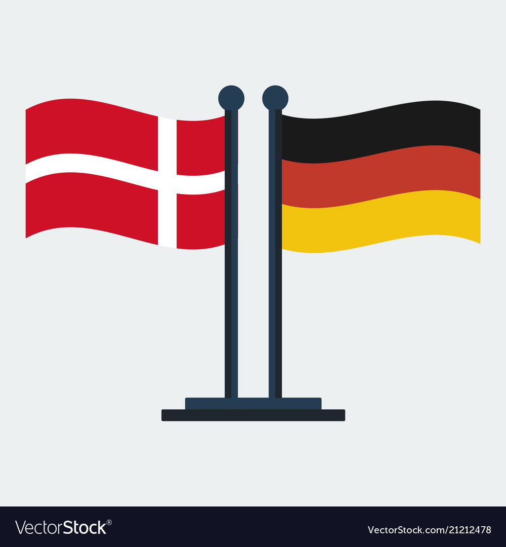 Flag of denmark and germany flag stand