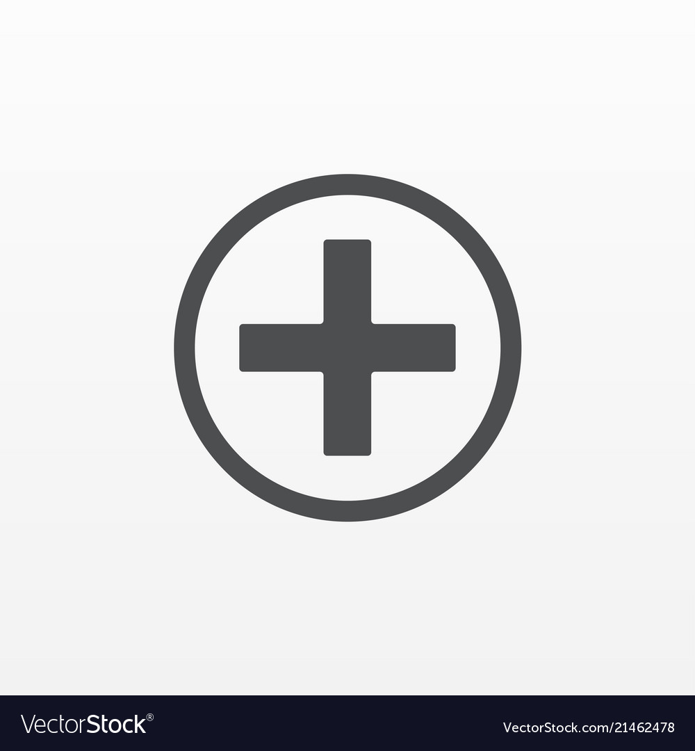 Gray add plus icon isolated on background modern