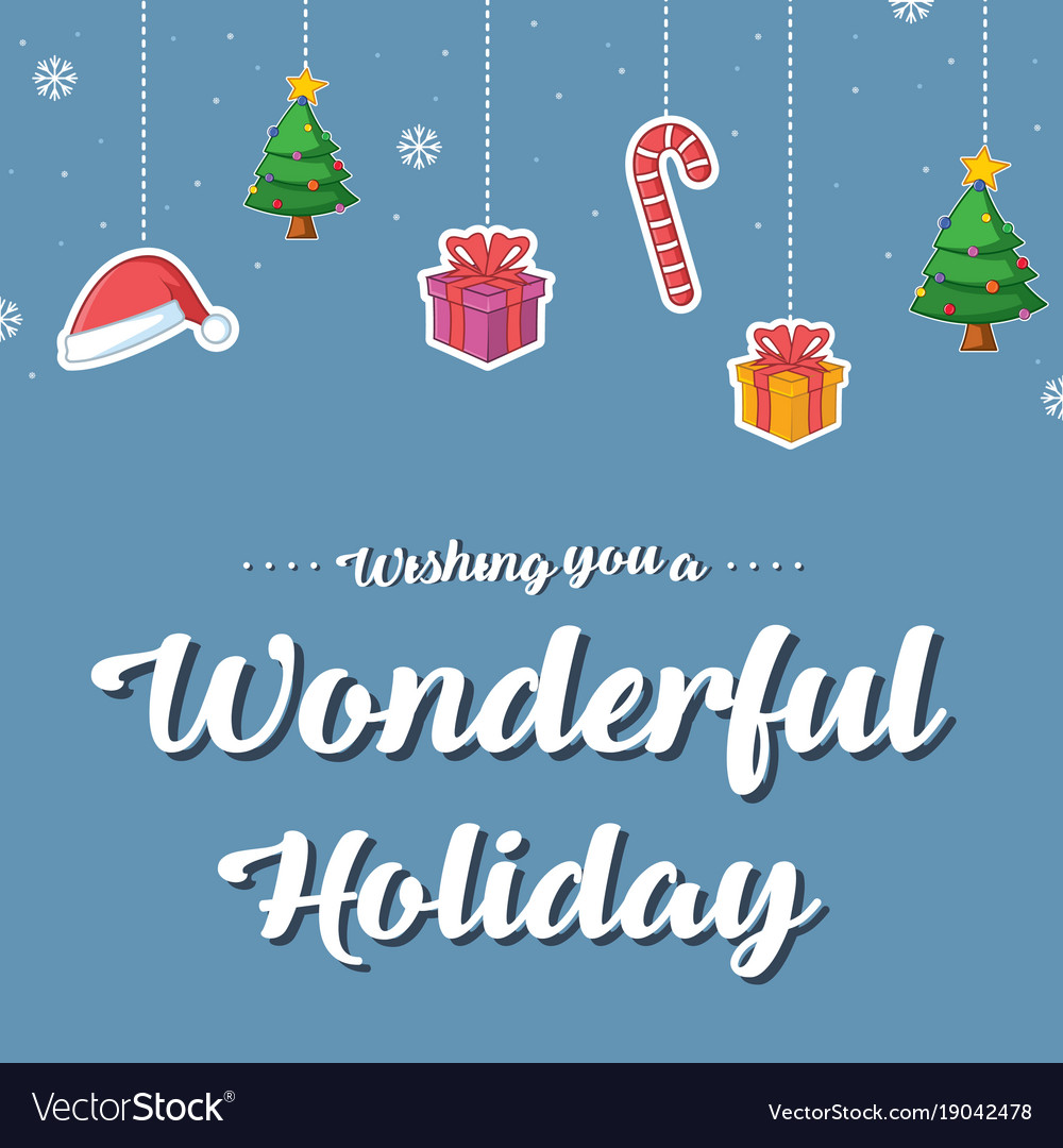 Happy Merry Christmas Card Style Royalty Free Vector Image