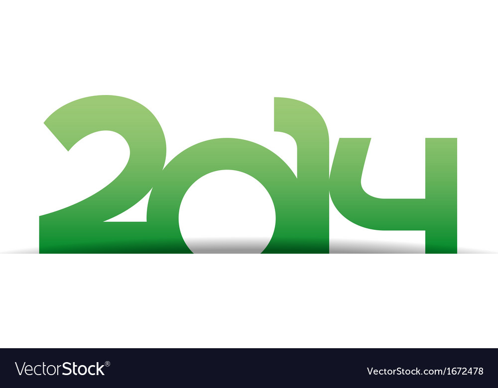 New year 2014 icon vector image