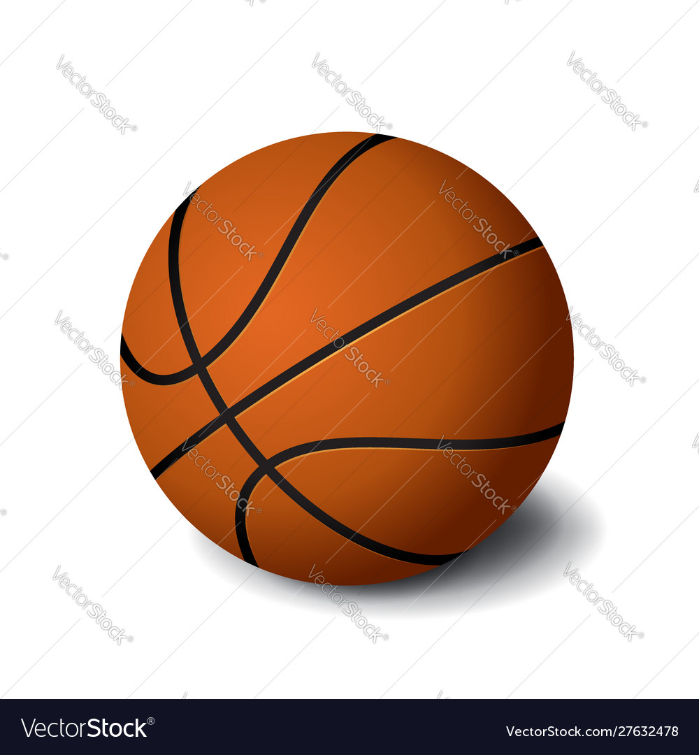 Orange basketball ball icon isolated on white