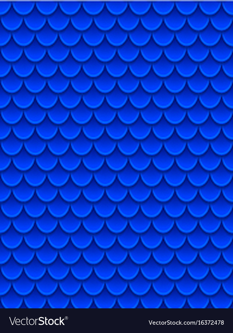 Seamless pattern of colorful blue fish scales