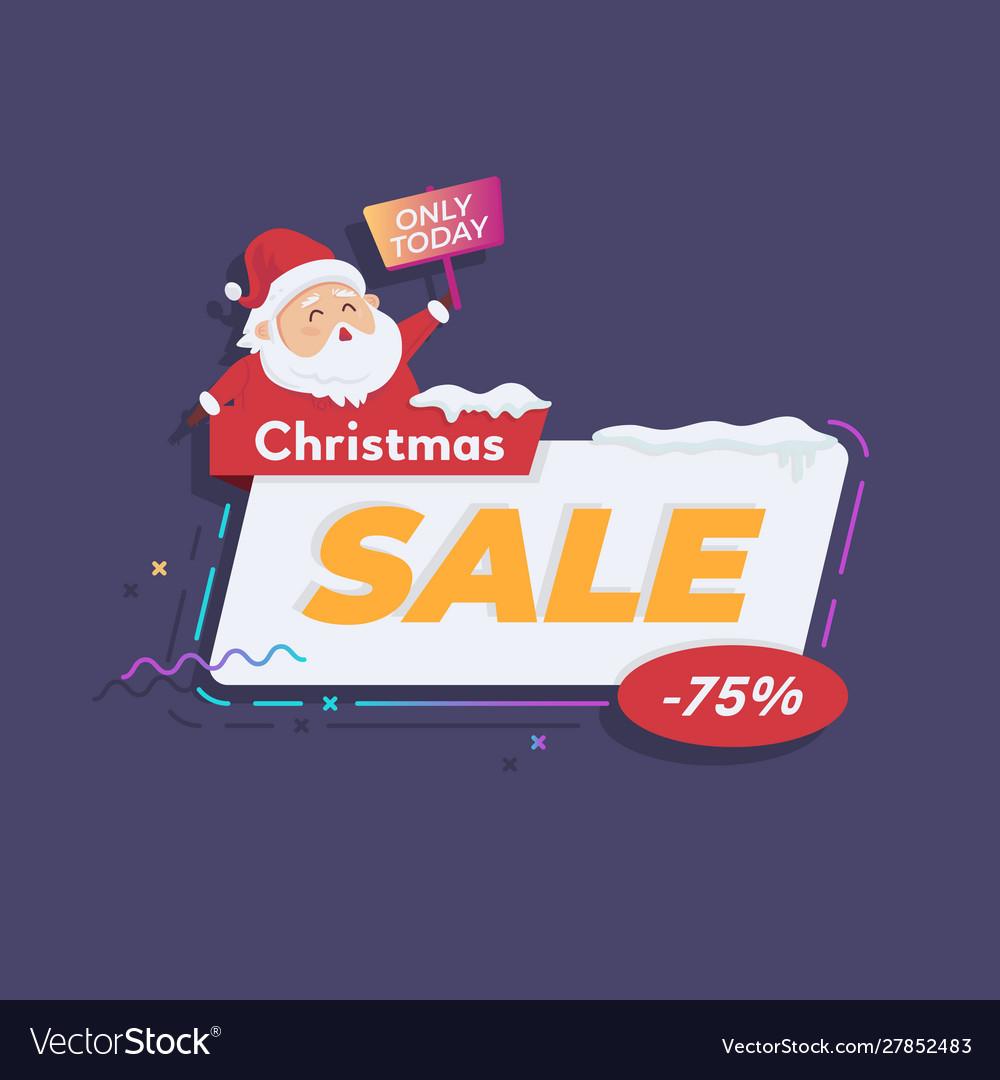 Christmas sale with santa
