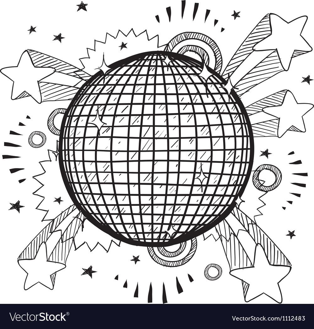 Doodle pop disco ball